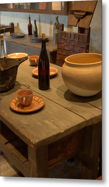 Mission San Juan Capistrano Bottles And Bowls Metal Print