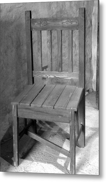 Mission San Juan Capistrano Chair Metal Print by Brad Scott