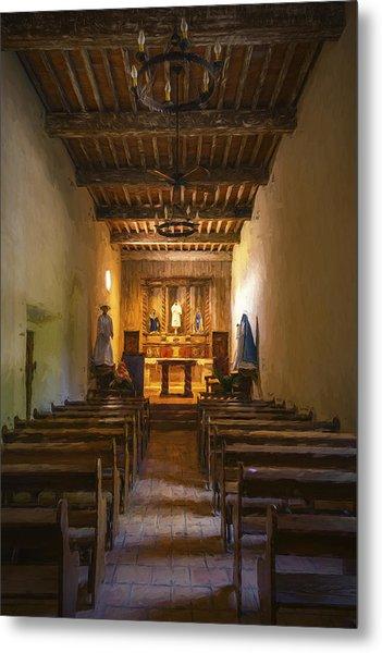 Mission San Juan Capistrano Chapel Vertical Painterly Metal Print