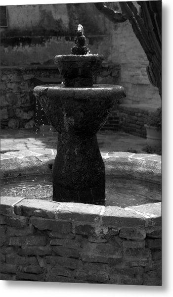 Mission San Juan Capistrano Fountain Metal Print
