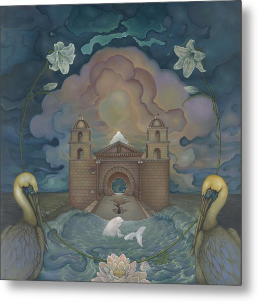 Mission Santa Barbara Metal Print