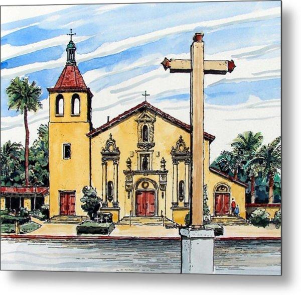 Mission Santa Clara De Asis Metal Print