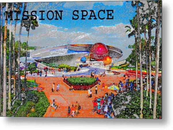 Mission Space Landscape Metal Print