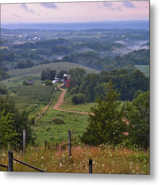 Mississippi River Valley 2 Metal Print