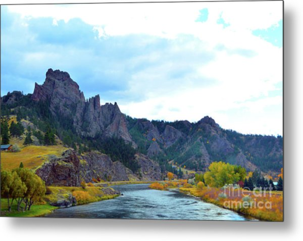 Missouri River Colors Metal Print