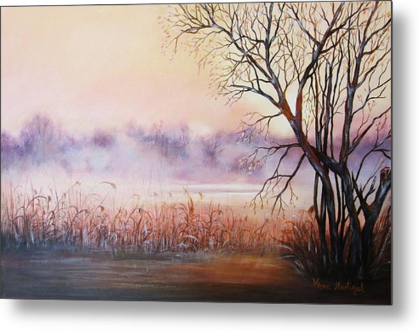 Mist On The River Metal Print