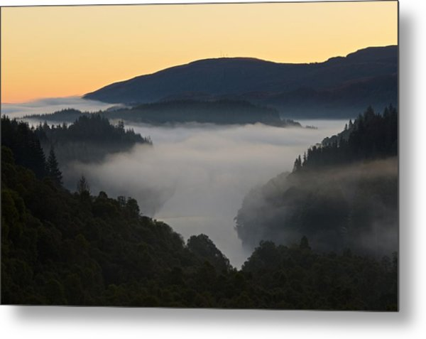 Mist Over Loch Achray Metal Print