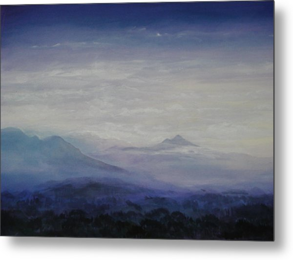 Mist Over The Mountains Metal Print by Jeff Knott