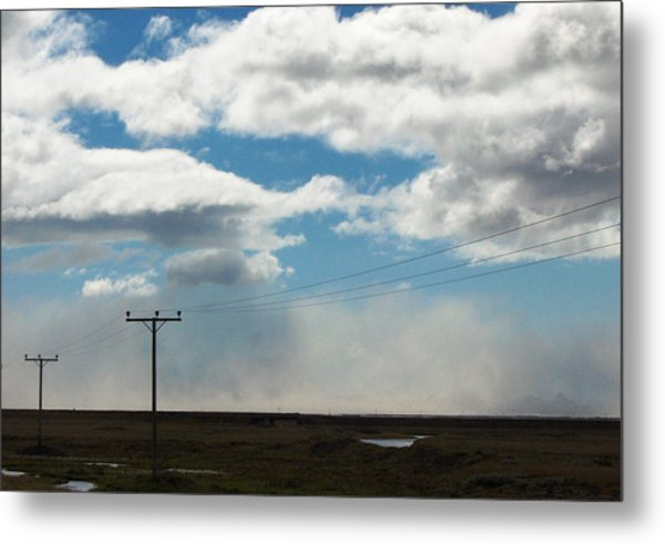 Mist Over Vestmannaeyjar Metal Print by Sidsel Genee