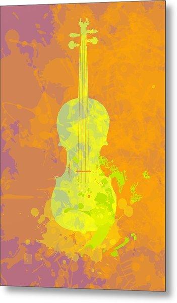 Metal Print featuring the digital art Mist Violin by Alberto RuiZ