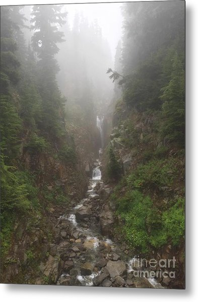 Misted Waterfall Metal Print