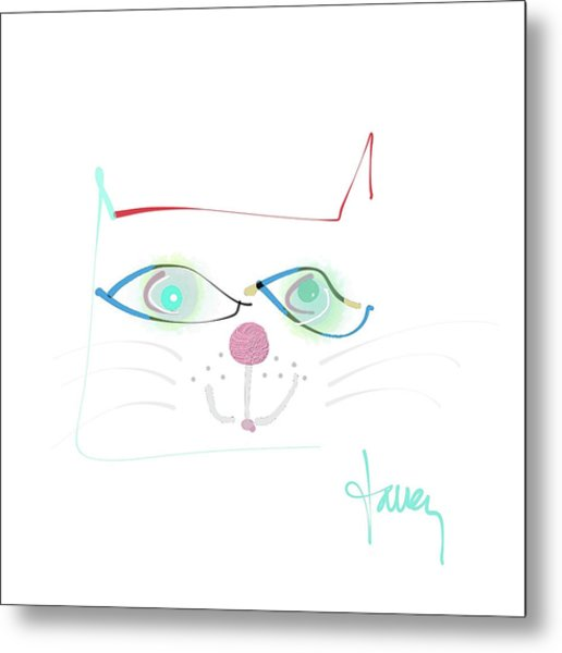 Metal Print featuring the mixed media Mister Mischief by Larry Talley