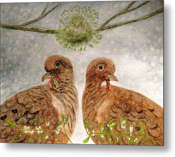 Mistletoe Magic Metal Print