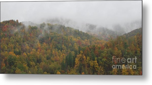Misty Autumn Metal Print