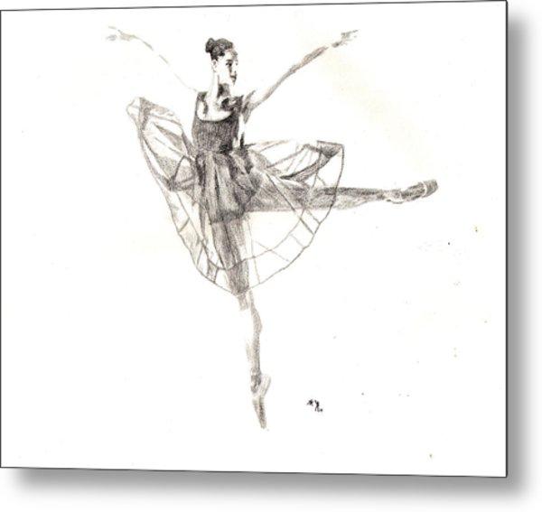 Misty Ballerina Dancer IIi Metal Print