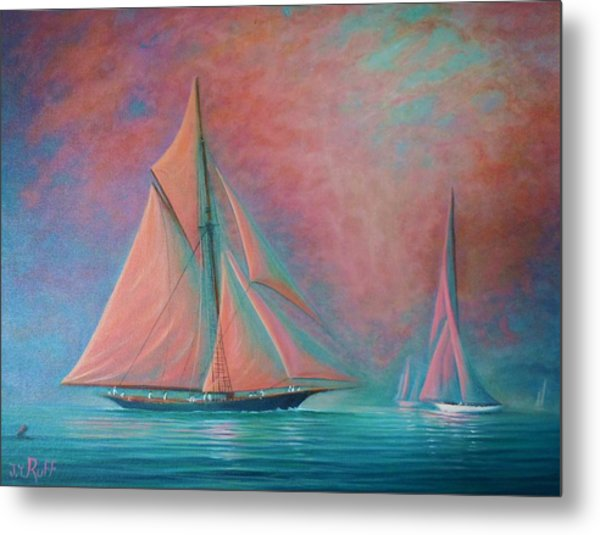 Misty Bay Rendevous Metal Print