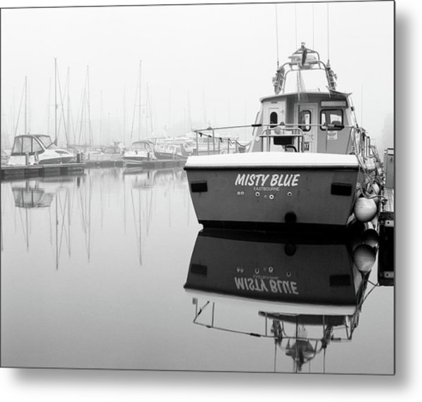Metal Print featuring the photograph Misty Blue Eastbourne by Will Gudgeon