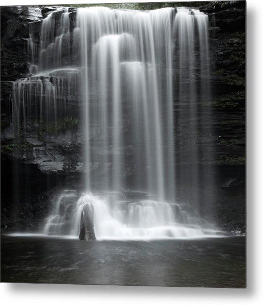 Misty Canyon Waterfall Metal Print