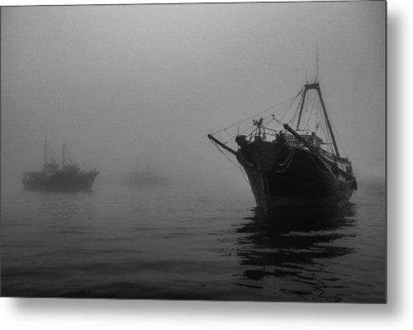 Misty Harbor Metal Print