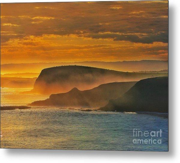 Misty Island Sunset Metal Print