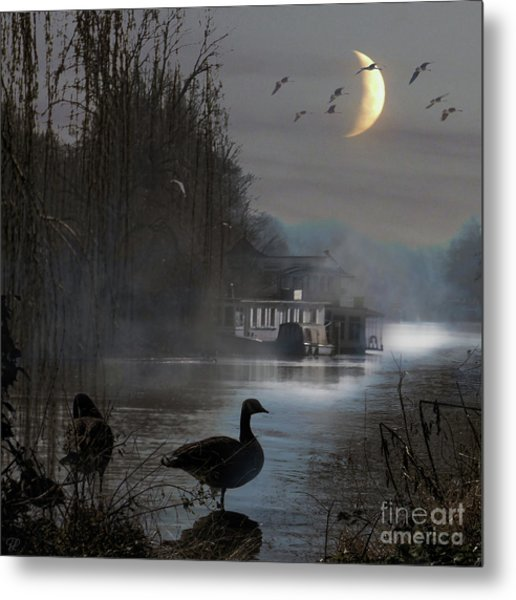 Misty Moonlight Metal Print