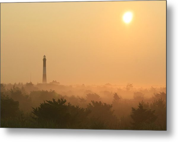 Misty Morning Fire Island Light Metal Print