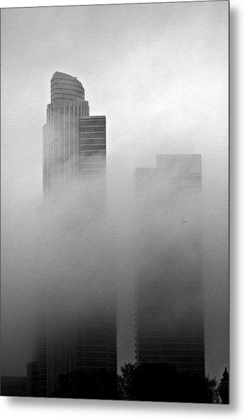 Misty Morning Flight Metal Print
