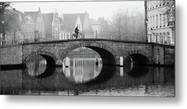 Metal Print featuring the photograph Misty Morning In Bruges  by Barry O Carroll
