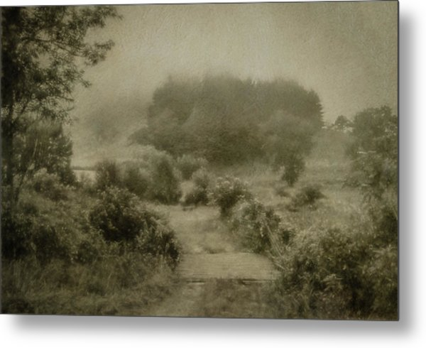 Misty Morning In The Valley Metal Print by John Kimball