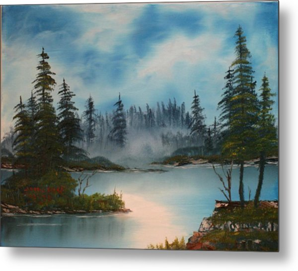 Misty Morning Metal Print