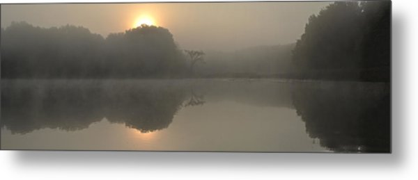 Misty Morning Water Metal Print
