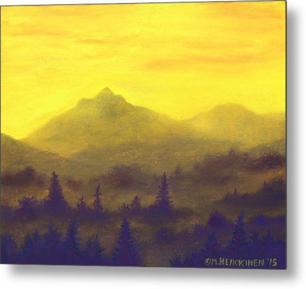 Misty Mountain Gold 01 Metal Print