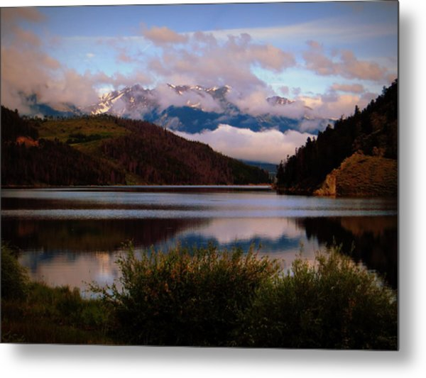 Misty Mountain Morning Metal Print