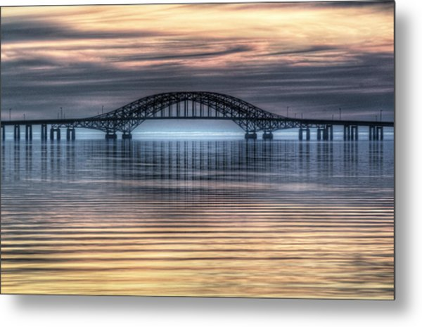 Misty Reflective Sunrise Metal Print by Vicki Jauron