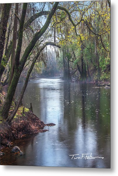 Misty River Metal Print