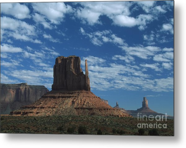 Mitten Under A Perfect Sky Metal Print by Stan and Anne Foster