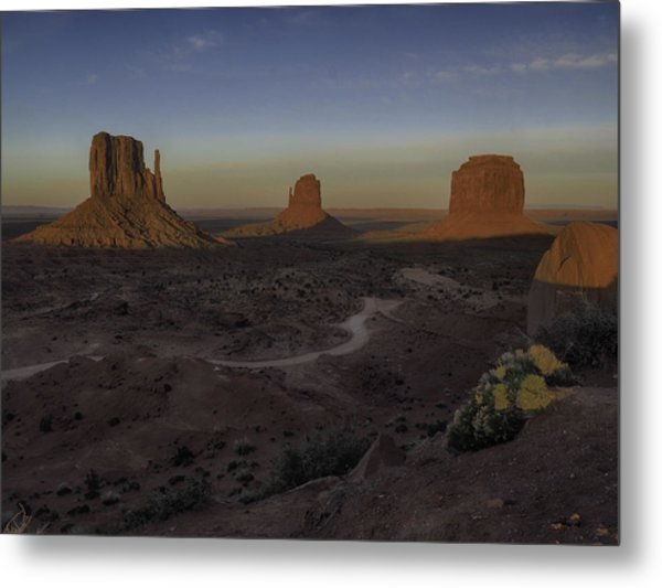 Mittens Morning Greeting Metal Print