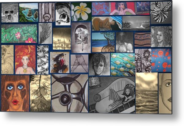 Mix It Up Collage Metal Print