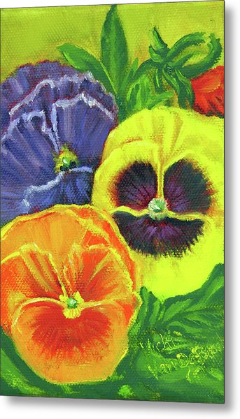 Mixed Pansy  Metal Print