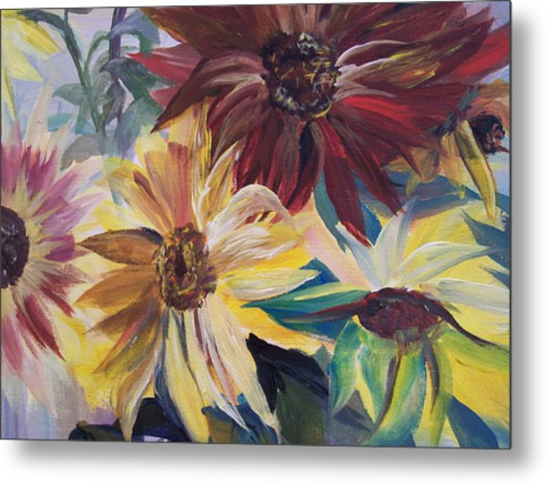 Mixed Sunflowers Metal Print