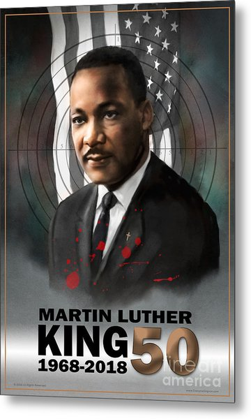 Metal Print featuring the digital art Mlk50 by Dwayne Glapion