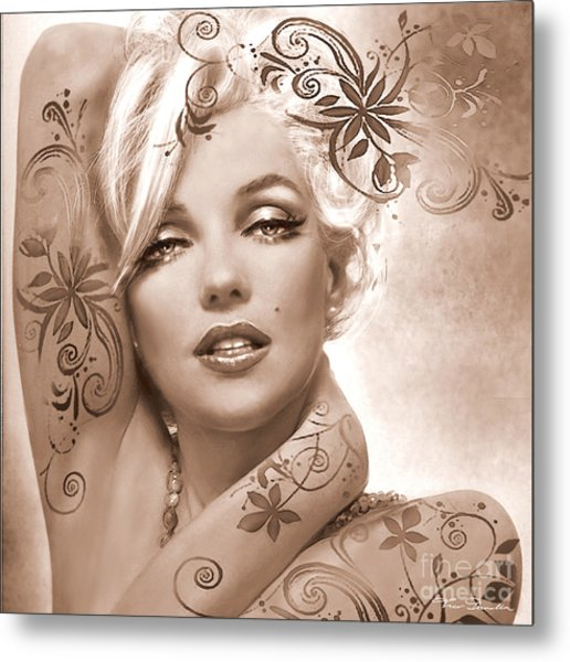 Mm 127 Deco Sepia Metal Print