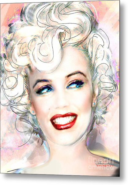 Mmother Of Pearl P Metal Print