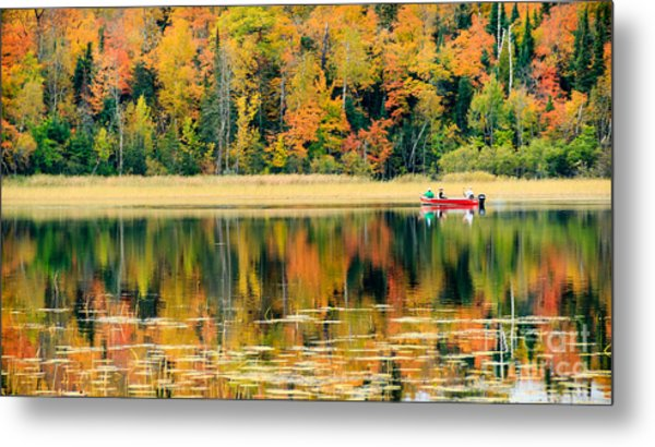 Mn Fall Fishing Metal Print