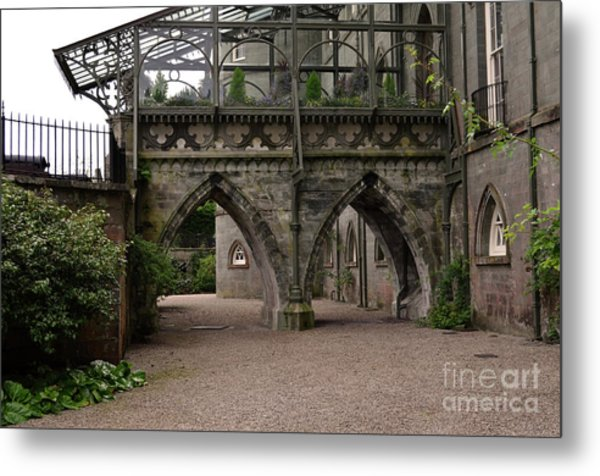 Moat At Inveraray Castle In Argyll Metal Print