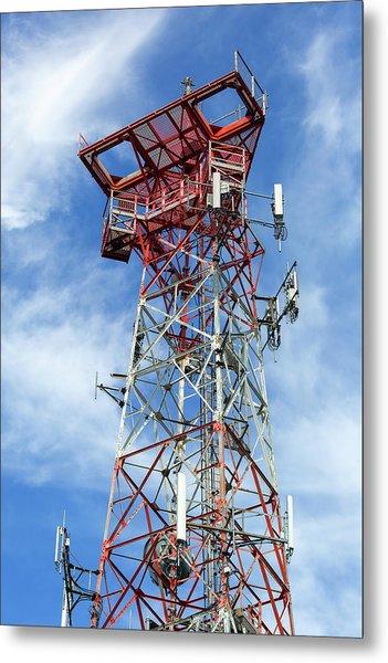 Mobile Phone Cellular Tower Metal Print