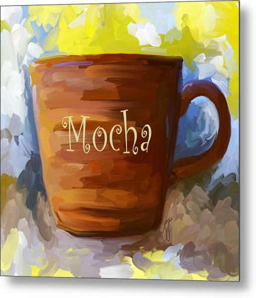 Mocha Coffee Cup Metal Print