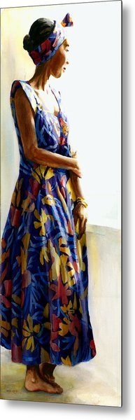 Model Repose II Metal Print by Carolyn Epperly