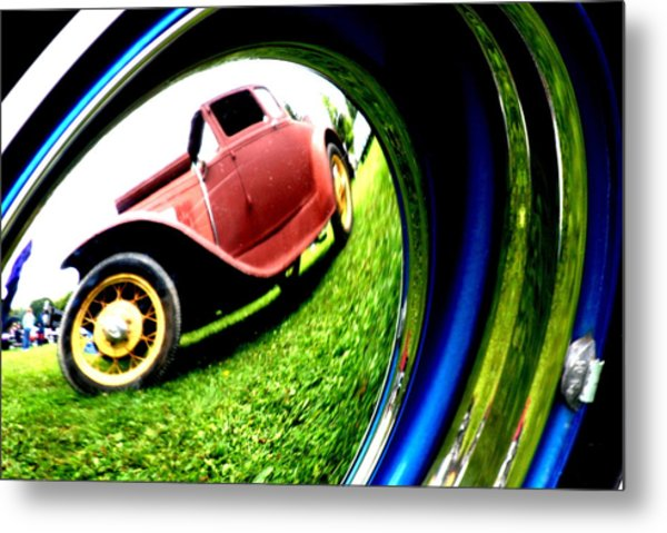 Model T In A Bubble Metal Print