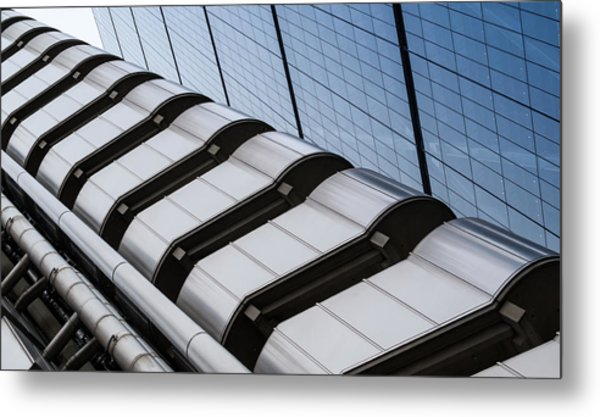 Lloyds Building Bank In London Metal Print